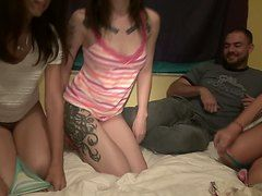 Amateur Christina, Cyrus And Indigo Hot Party
